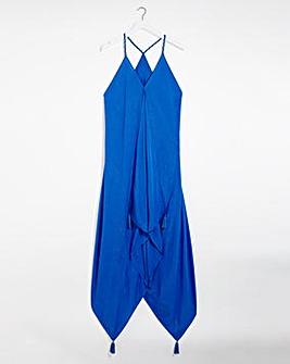 Lurex Hanky Hem Beach Dress