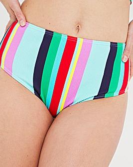 Mix and Match Textured High Waist Bikini Bottoms