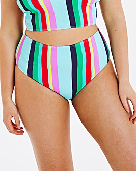 Mix and Match Textured High Waist Bikini Bottoms