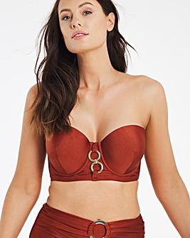 Underwired Ring Bandeau Bikini Top