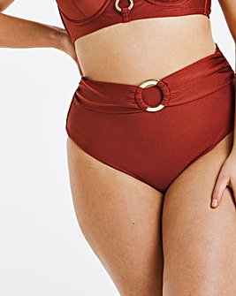 Ring Detail High Waist Brief