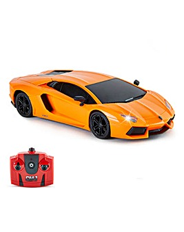 1:24 RC Lamborghini Aventador Orange Remote Control Car