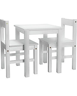 Scandinavia White Table & 2 Chairs