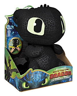 Dragons Squeeze & Growl Plush Toothless