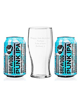 Personalised IPA Glass & Cans Set