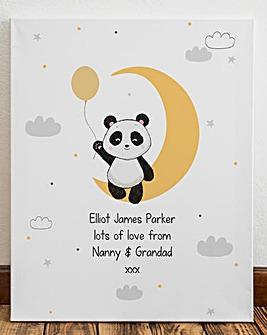 Personalised Panda Canvas