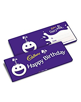 Cadbury Birthday Dairy Milk 850g bar