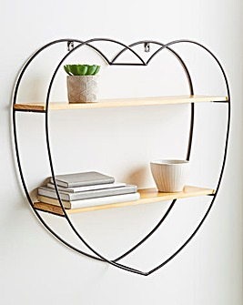 Metal Heart Shelf