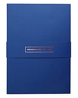 Personalised A5 Blue Notebook