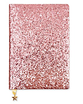 Pink Champagne A5 Sequin Notebook