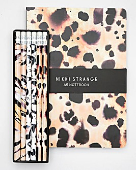 Nikki Strange A5 Notebook & Pencils Set