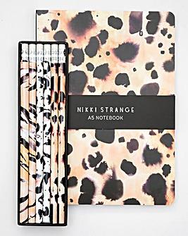 Nikki Strange A5 Notebook & Pencils Set