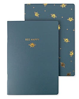 Woodland Trust Busy Bee Set 2 Notebooks