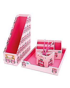 Twooty Owl Desk Stationery Set