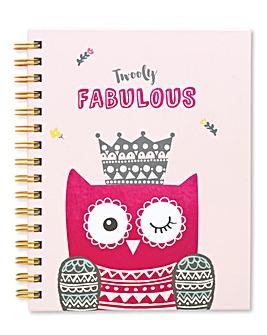 Twooty Owl A5 Organiser