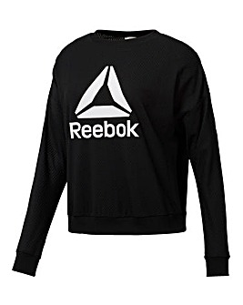 Reebok Workout Mesh Sweatshirt