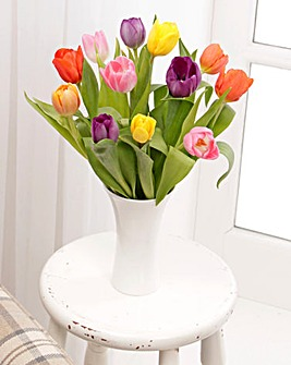Mixed Tuplip Bouquet with free Vase