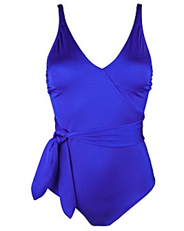 Pour Moi Azure Wrap Belted Control Swimsuit