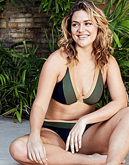 Figleaves Colourblock Halter Bikini Top