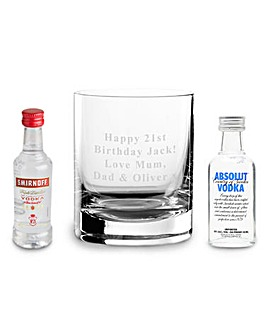 Personalised Vodka Glass & Miniatures