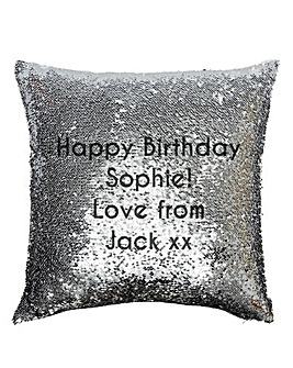 Personalised Reversible Sequin Cushion