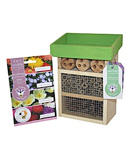 Bee and Insect Habitat Garden Gift Set