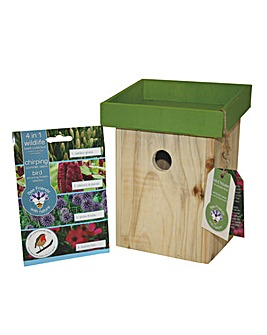 Bird House & Seeds Garden Gift Set