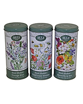 Garden Seeds Shaker Tin Trio Set
