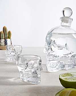 Skull Decanter and Glasses Gift Set
