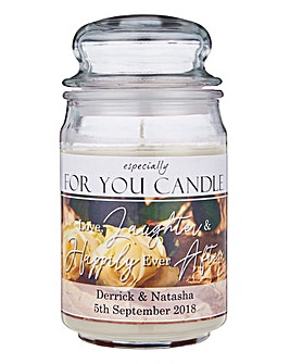 Personalised Wedding Jar Candle