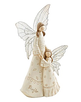 Mother and Daughter Angel Figurine