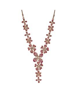 Mood Rose Gold Floral Y Necklace