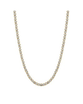 Jon Richard Gold Fine Tennis Necklace