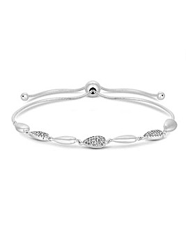 Simply Silver Pave Station Toggle