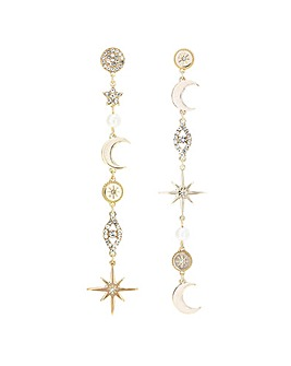 Lipsy Gold Celestial Miss Match Earring