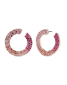 Mood Rose Gold Front To Back Earring