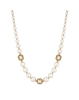 Jon Richard Pearl Infinity Necklace