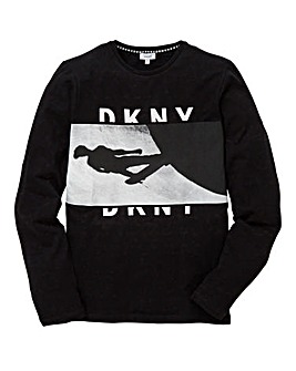 DKNY Boys Graphic Long Sleeve T-Shirt