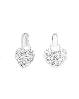 Lipsy Silver Heart Doorknocker Earring