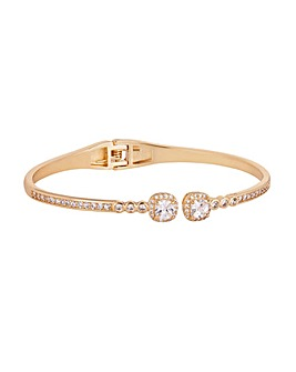 Jon Richard Gold Open Hinge Bangle