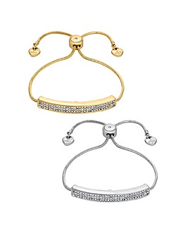 Lipsy Crystal Pave Bar Toggle Set