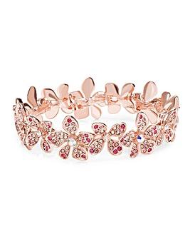 Mood Tonal Pink Floral Stretch Bracelet