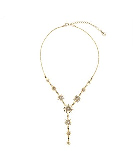 Lipsy Gold Celestial Lariat Necklace