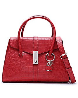 Guess Asher Moc Croc Satchel Bag
