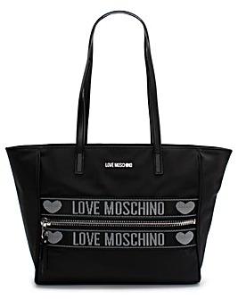 Love Moschino Logo Nylon Shopper Bag