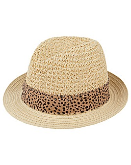 Accessorize Animal Trim Trilby