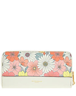 Accessorize Printed Zip Around Wallet