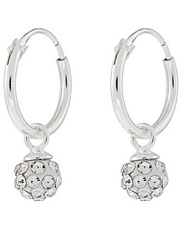 Accessorize St Sparkle Pave Ball Hoop