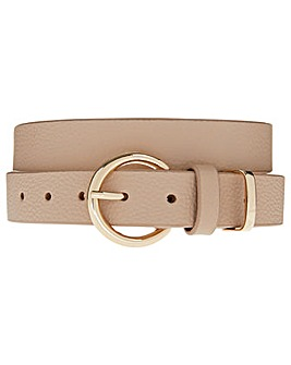 Accessorize Round Buckle Leather Belt