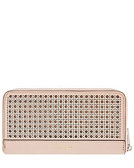 Accessorize Laser Cut Zip Around Wallet